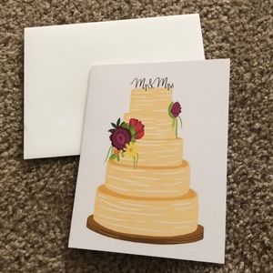 Mr & Mrs Tiered Cake Greeting Card